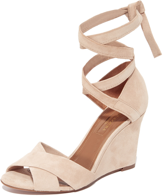 Aquazzura Tarzan 85 Wedge Sandals $725 thestylecure.com