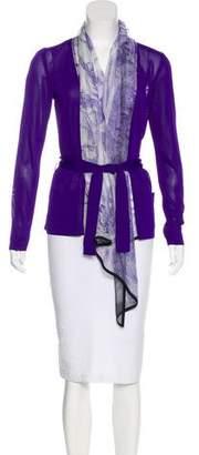 Hermes Brides de Gala Silk-Trimmed Cardigan