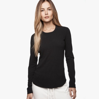 Brushed Jersey Long Sleeve Crew $135 thestylecure.com