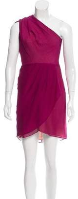 Nellie Partow Gathered One-Shoulder Dress