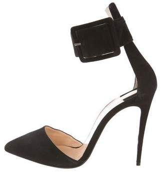 Christian Louboutin Pointed-Toe Ankle Strap Sandals