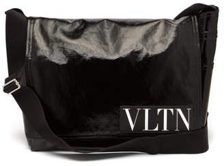 Valentino - Vltn Coated Twill Messenger Bag - Mens - Black