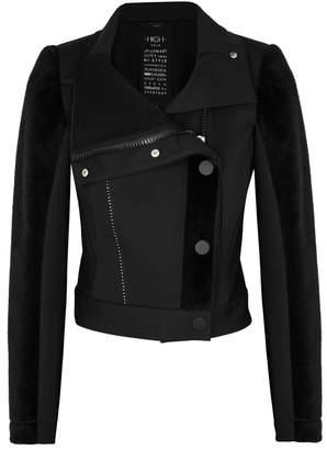 High Enter-In Black Panelled Jacket