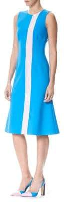 Carolina Herrera Colorblock Fit-&-Flare Dress