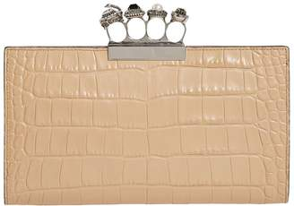 Alexander McQueen LeatherJewelled Four-Ring Pouch