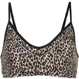 The Upside Leopard-print sports bra
