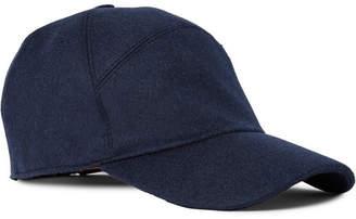 Loro Piana Storm System Baby Cashmere Baseball Cap - Men - Midnight blue