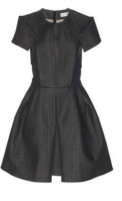 Dice Kayek Exaggerated Shoulder Mini Dress