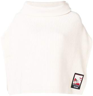 Moschino knitted roll neck poncho