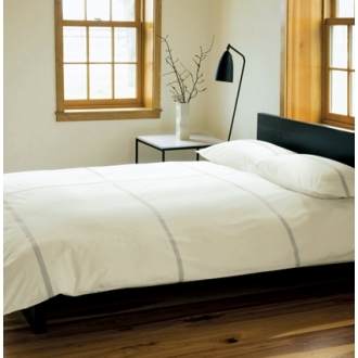 Unison Tatami Organic Ivory Duvet Cover And Cases