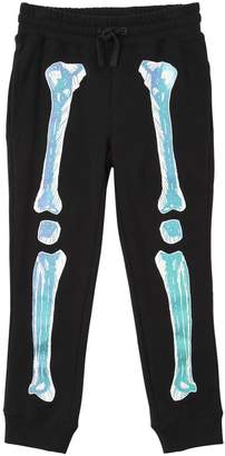 Stella McCartney Reflective Skeleton Cotton Sweatpants