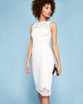 Ted Baker VERITA Embroidered bodycon dress