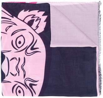 Kenzo logo printed scarf