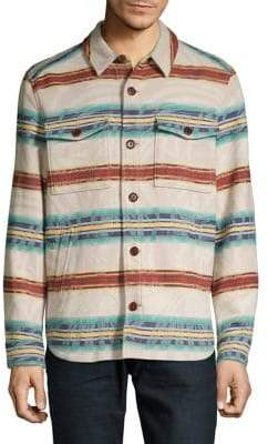 Tommy Bahama Pendleton Island Serape Striped Wool Button-Down Shirt