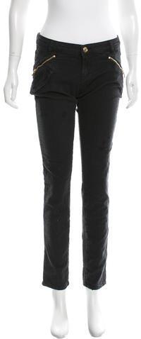 BalmainPierre Balmain Distressed Straight-Leg Jeans w/ Tags