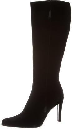 pradaPrada Velvet Knee-High Boots