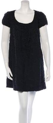 Robert Rodriguez Mini Eyelet Shift Dress
