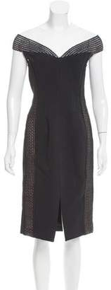 Nicholas Mesh-Accented Bandage Dress w/ Tags