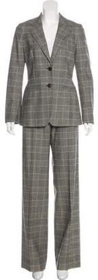 Max Mara Notch-Lapel High-Rise Pantsuit
