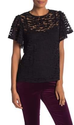 Trina Turk Dickenson Short Sleeve Knit Blouse