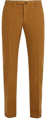 Incotex Slim Leg Cotton Blend Chino Trousers - Mens - Mustard
