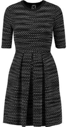 M Missoni Pleated Jacquard-Knit Mini Dress