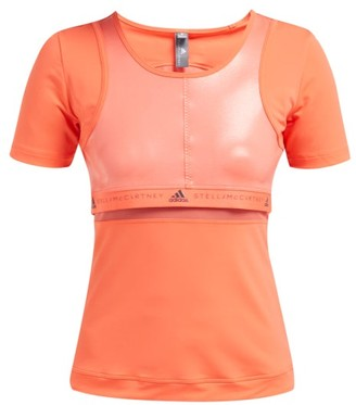 adidas by Stella McCartney Run Scoop Neck T Shirt - Womens - Orange