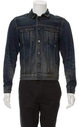 Burberry Distressed Denim Jacket