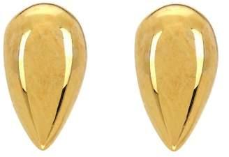 Argentovivo 18K Gold Plated Sterling Silver Teardrop Stud Earrings