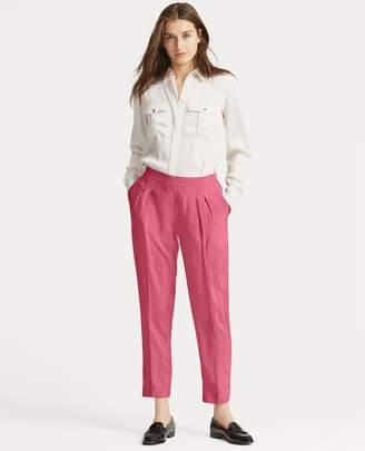 Ralph Lauren Skinny Pleated Twill Pant