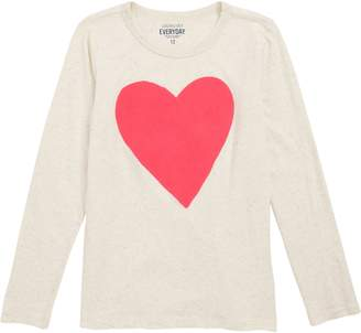 J.Crew crewcuts by Textured Heart Tee