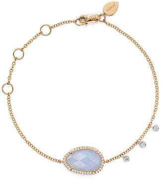 Meira T 14K Rose and White Gold Chalcedony Bracelet with Diamonds