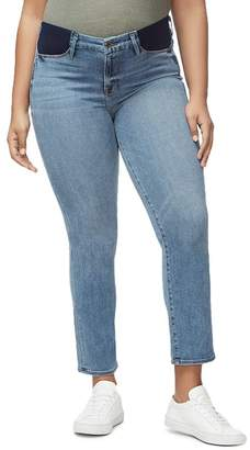 Good American Honeymoon Straight-Leg Maternity Jeans in Blue087