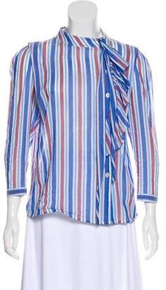 Marc Jacobs Semi-Sheer Striped Top