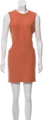 Ronny Kobo Knit Cut-Out Dress