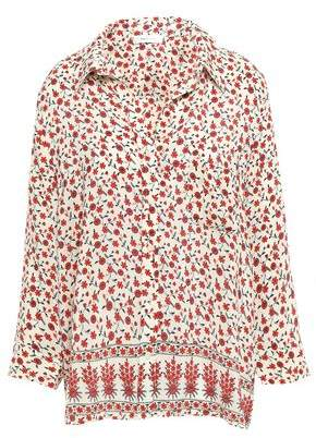 Anine Bing Floral-print Washed-silk Shirt