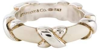 Tiffany & Co. Enamel X Ring