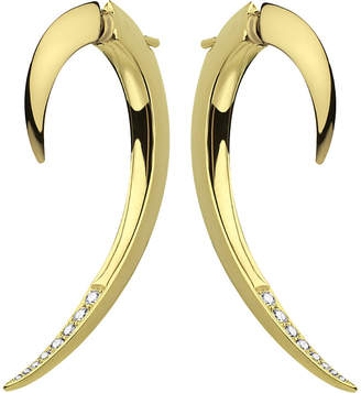 Shaun Leane Tusk yellow gold vermeil and diamond earrings, silver
