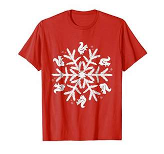Squirrel Winter Snowflake Shirt