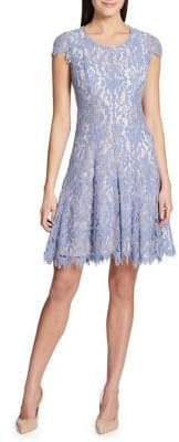 Tommy Hilfiger Dutch Tulip Lace Cap-Sleeve Fit-and-Flare Dress