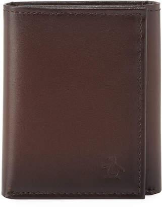 Original Penguin Men's Michigan Slim Tri-Fold Leather Wallet
