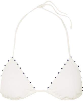 Marysia Swim Saint-tropez Knotted Triangle Bikini Top - White
