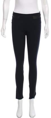 Helmut Lang Leather-Accented Skinny Pants