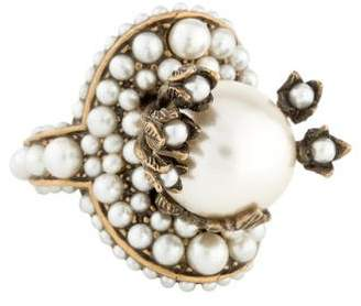 Gucci Faux Pearl Flower Ring