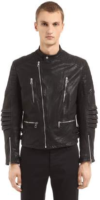 Neil Barrett Hand Printed Leather Biker Jacket