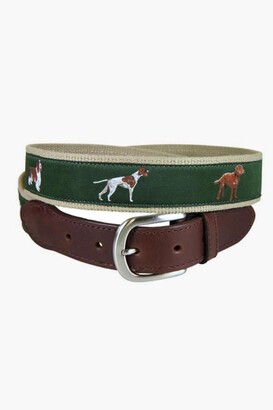 Gents Belted Cow Sporting Dogs Leather Tab Belt