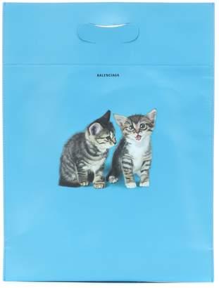 Balenciaga Kitten S leather shopper