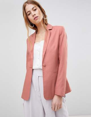 Asos (エイソス) - ASOS DESIGN tailored single breasted linen blazer