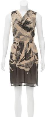 Andrew Marc Printed Silk Dress