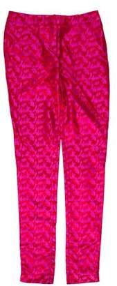 Matthew Williamson Silk Mid-Rise Pants